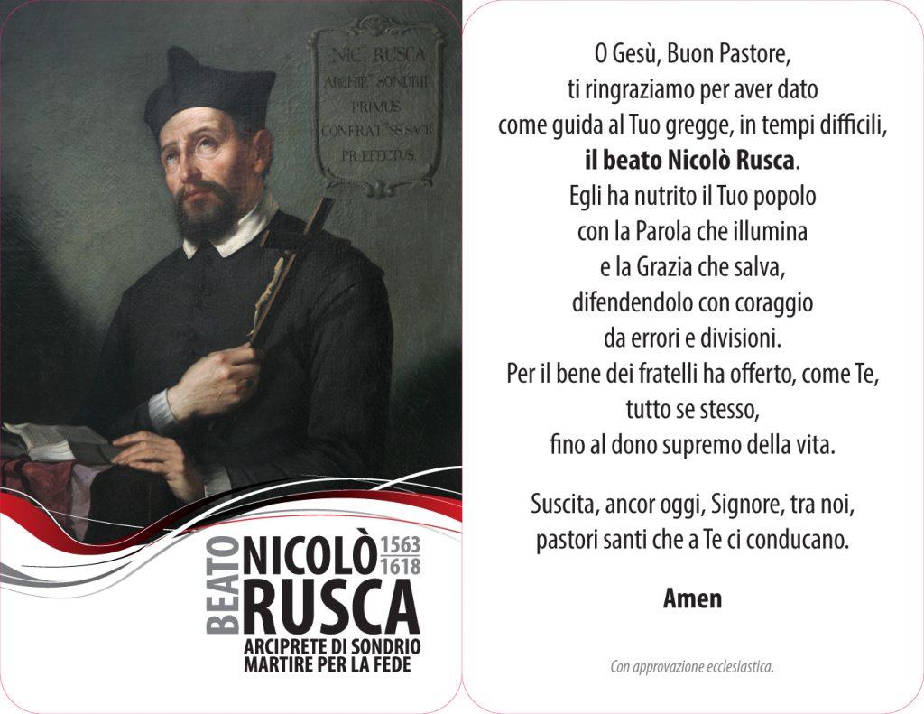 Preghiera al beato Nicolò Rusca