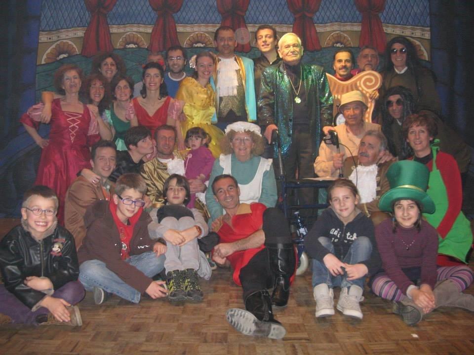 foto di gruppo per gli attori