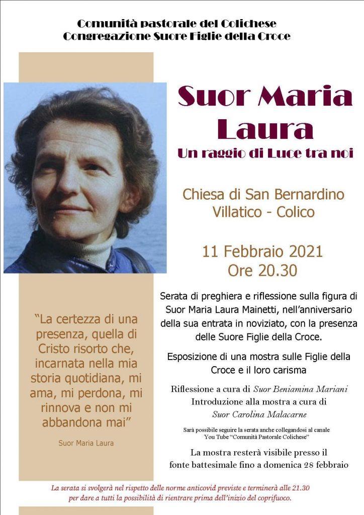 Preghiera e mostra suor Maria Laura Mainetti a Villatico